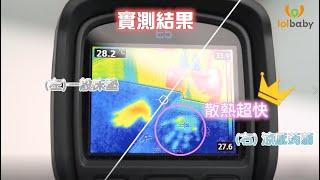【Lolbaby 涼感系列】熱像儀實測,有效快速散熱~!