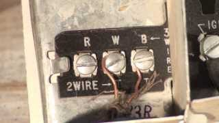 Thermostat wiring for the oil furnace - YouTubeYouTube