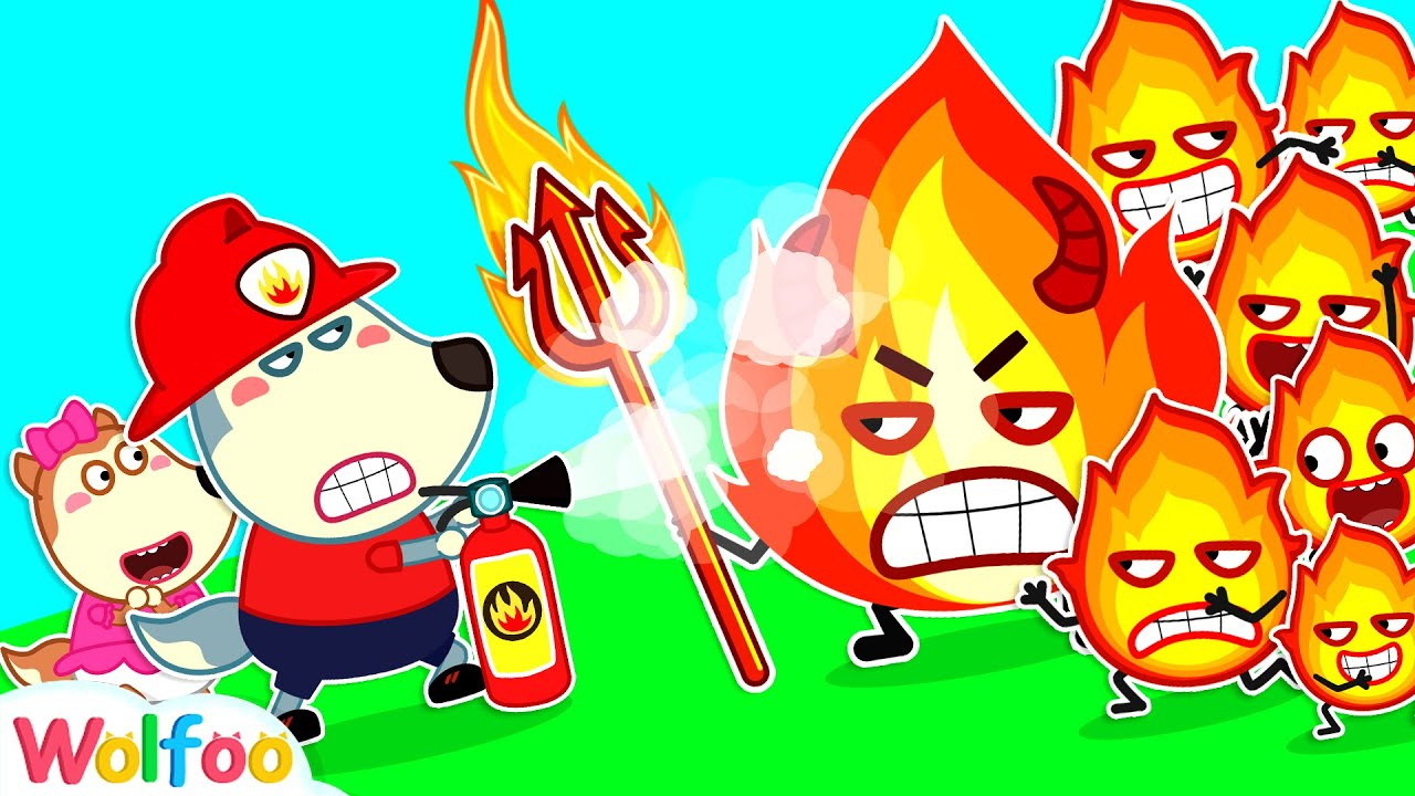 Evil Fire, Go Away #2 - Wolfoo Learns Safety Tips for Kids | Wolfoo Family Kids Cartoon