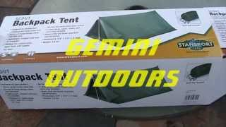 STANSPORT SCOUT TENT Q E & Save! Stansport Scout 2 Person Nylon Tent with Ropes and Stakes ...