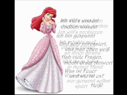 Arielle - Ein Mensch zu sein (mit lyrics)