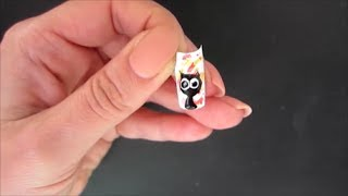 Простой рисунок на ногтях. Кошка 2