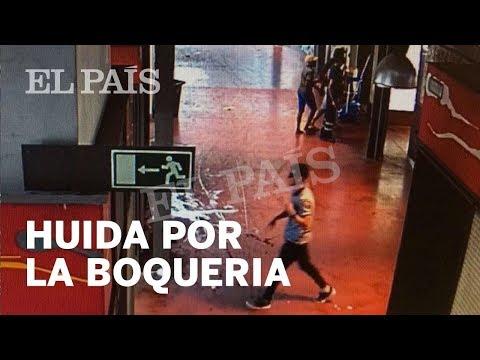 El supuesto terrorista de Las Ramblas huyó por el mercado de La Boqueria | España