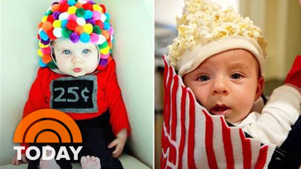 baby popcorn bucket and other last-minute diy halloween costumes for