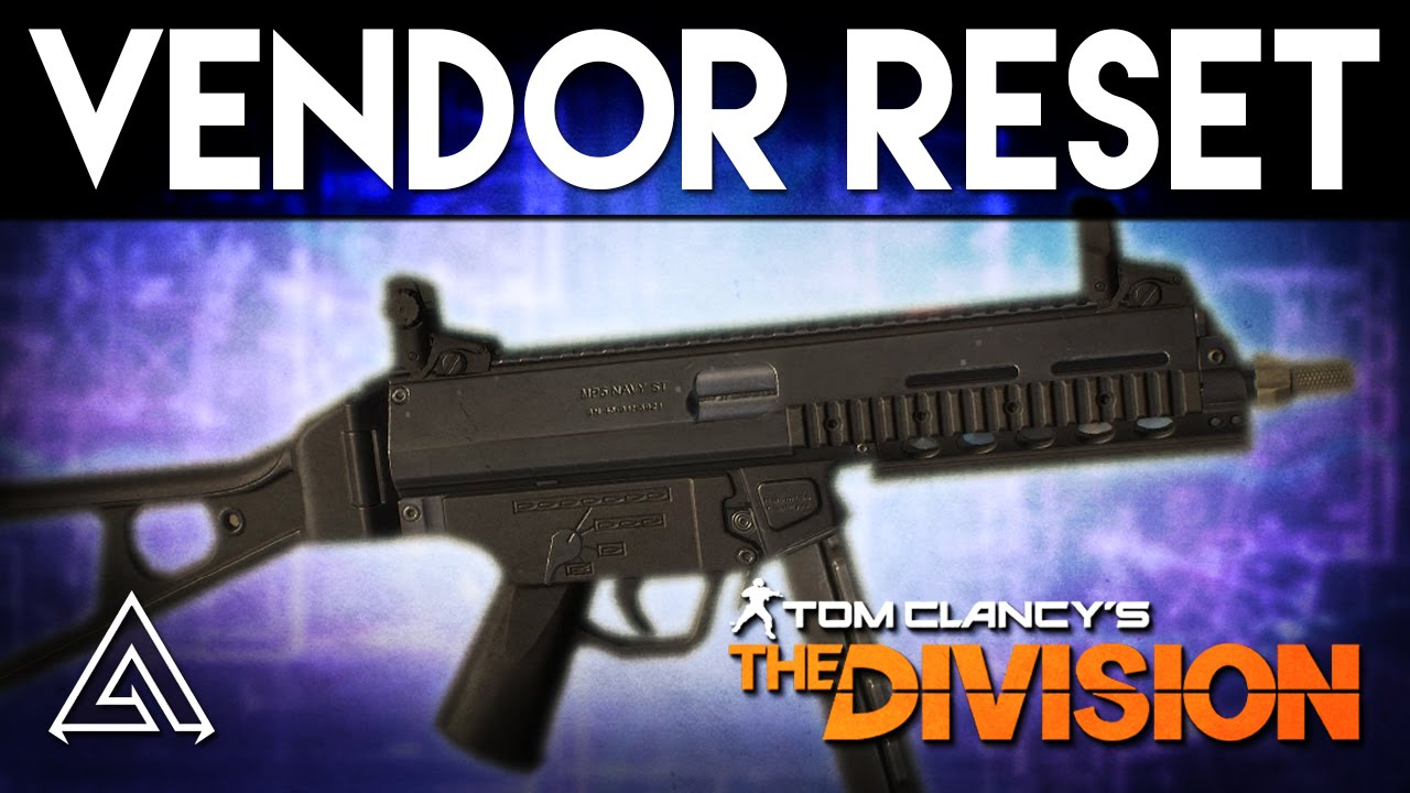 The Division Weekly Vendor reset: MP5-ST, blueprints, and