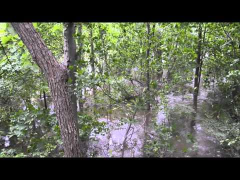 Hurricane Irene Ramapo River Flooding in Oakland NJ