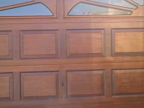 How to woodgrain garage door part 18 project summary and for Wood grain garage doors
