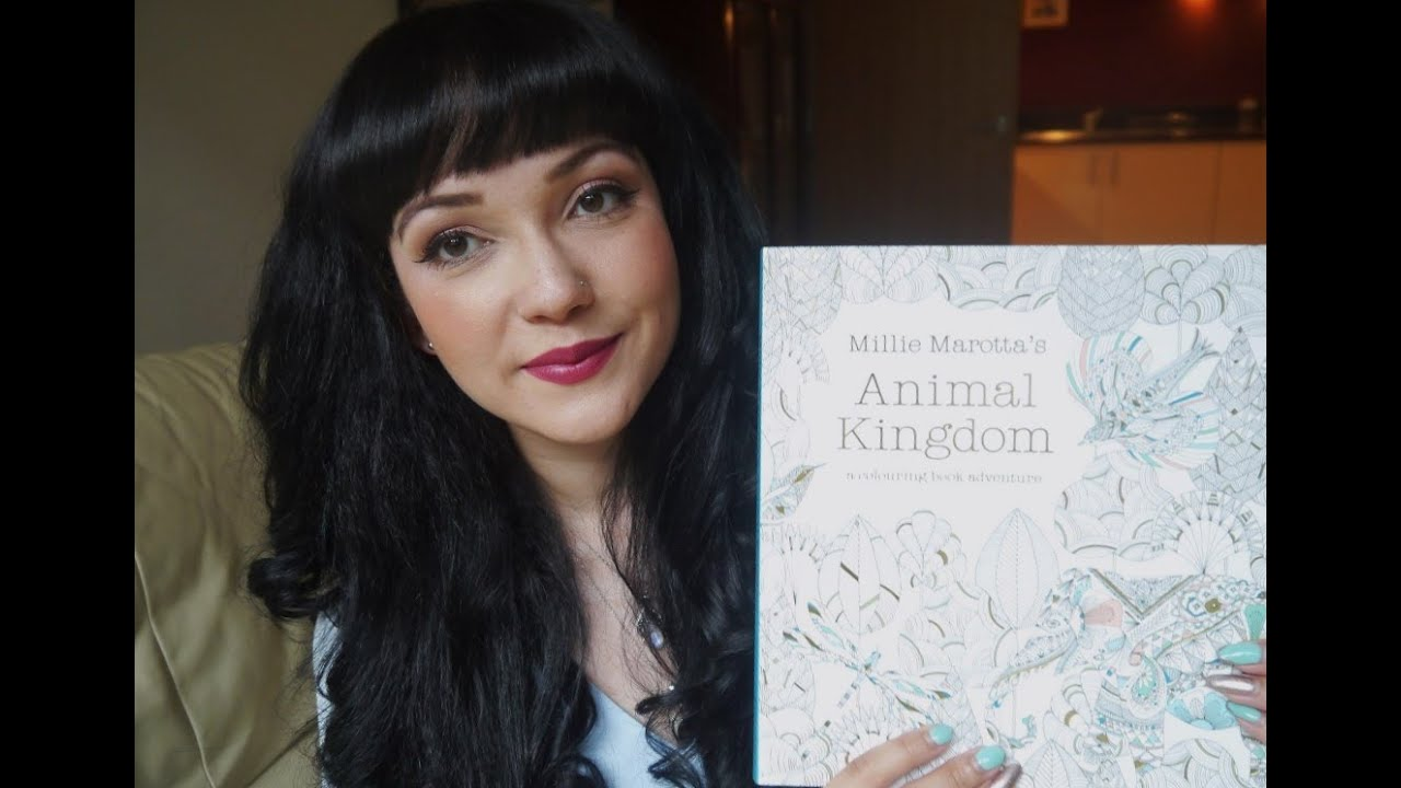 Adult Colouring Books Animal Kingdom