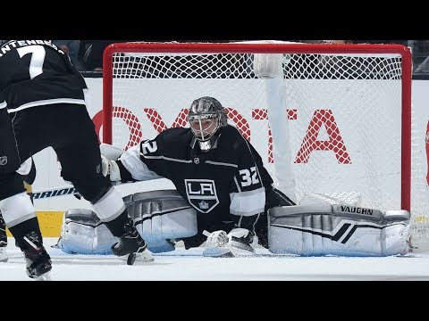 Jonathan Quick's Big Pad Save vs. Vancouver Canucks 9/24