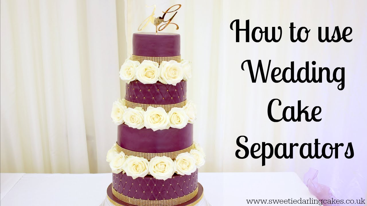 How To Use Wedding Cake Separators - YouTube