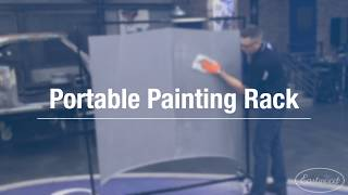 The PERFECT Paint Rack for the Home Garage! Eastwood Portable Painting Rack!
