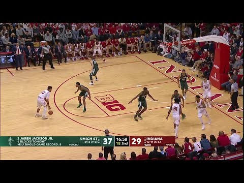 Big Ten Basketball Highlights - Michigan State at Indiana