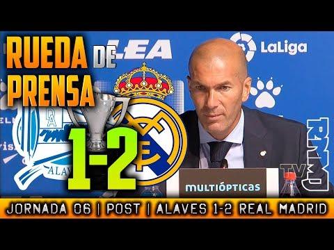 Alavés 1-2 Real Madrid Rueda de prensa de Zidane (23/09/17)