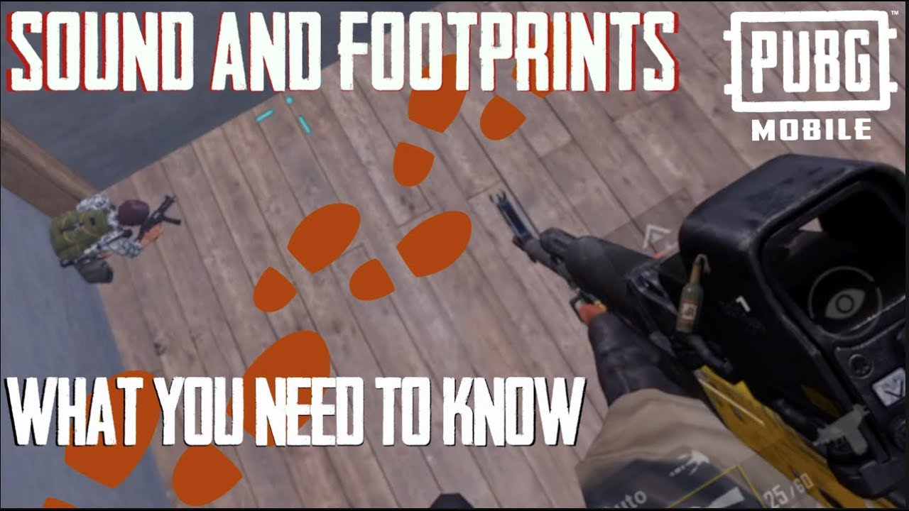 SOUND & FOOTSTEPS - NUMBERS & HOW TO USE THEM PUBG MOBILE WITH THE BUSHKA