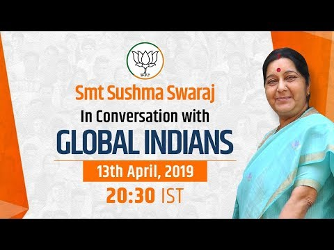 Smt Sushma Swaraj's interaction with Indians living across the globe.