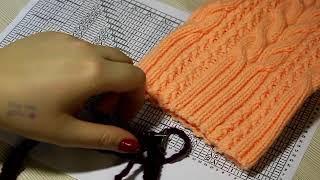Мк (мастер класс) по вязанию шапки Кошка