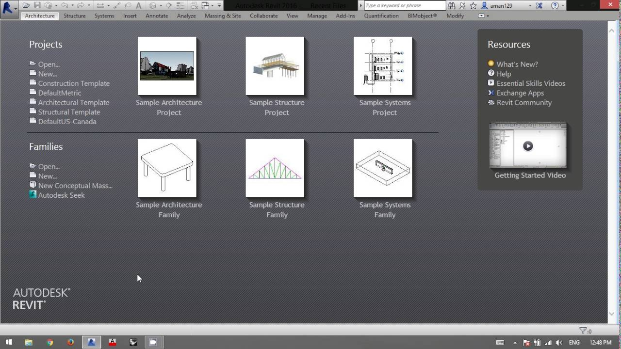 How to add Templates in Revit Interface