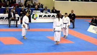Open de paris karate 2012: Final Kata et bunkai feminin(Italie vs Croatie) 2eme partie (part 2)
