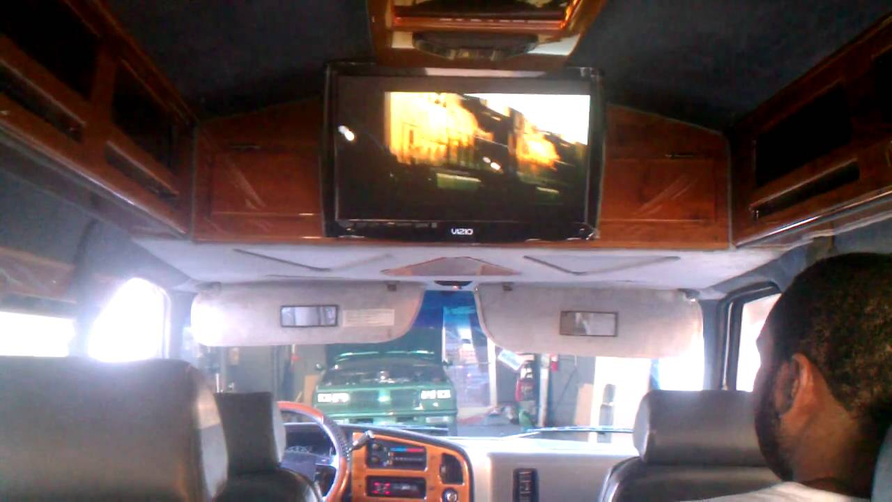 "22"" tv installed in conversion van with internet - YouTube"