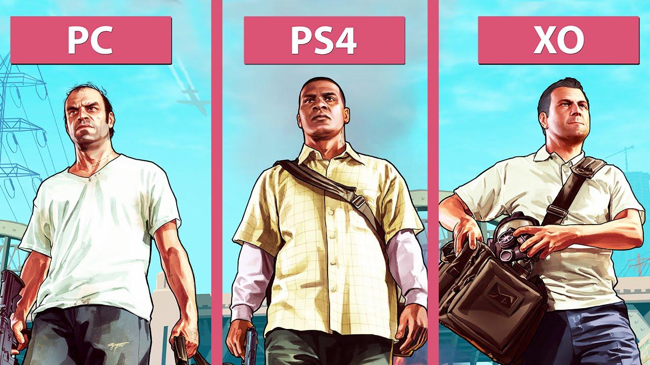 Grand Theft Auto  Pc Vs Ps4 Vs Xbox One Graphics Comparison 60fpsfullhd1080p Youtube
