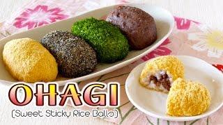 Ohagi / Botamochi (japanese Sweet Sticky Rice Balls) おはぎ/ぼたもちの作り方 - Ochikeron - Create Eat Happy