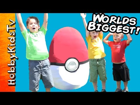 Worlds Biggest Pokemon Themed Surprise Egg HobbyKidsTV