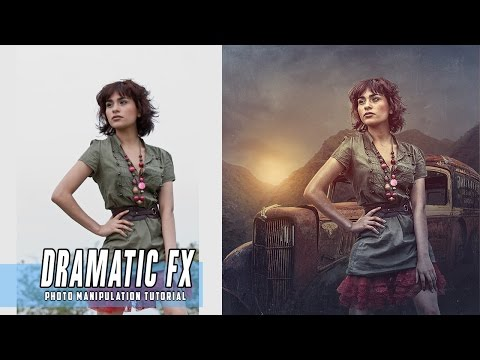 Dramatic Photoshop Manipulation Photo Effects Tutorial Editing