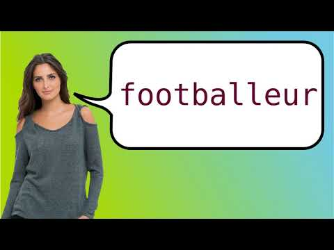 How to say 'football player' in French?