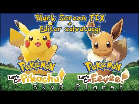 Tutorial ITA - Pokemon Let's Go Eevee\Pikachu - Yuzu - Fix Schermata Nera e Editor Salvataggi thumbnail