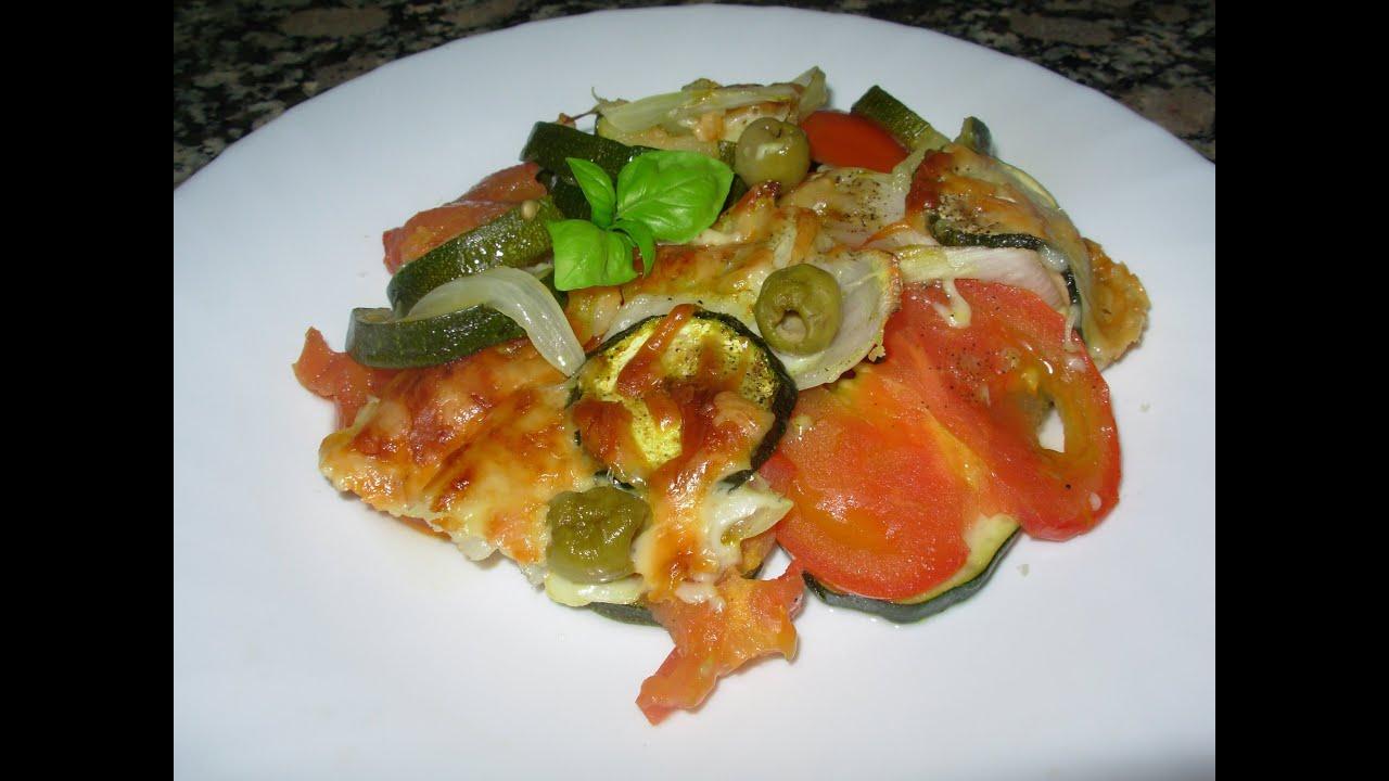 Receta de Calabacin al horno con tomate y queso!! - YouTube