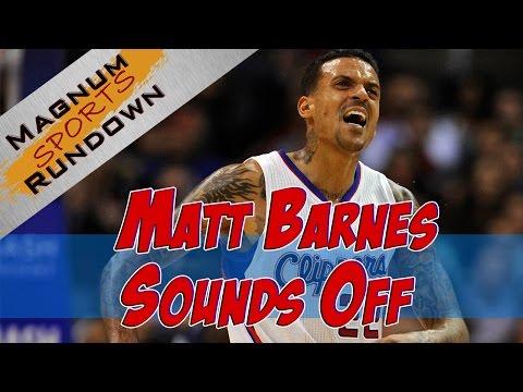 Matt Barnes Rants on Twitter for NBA Fine of 25k || MSR