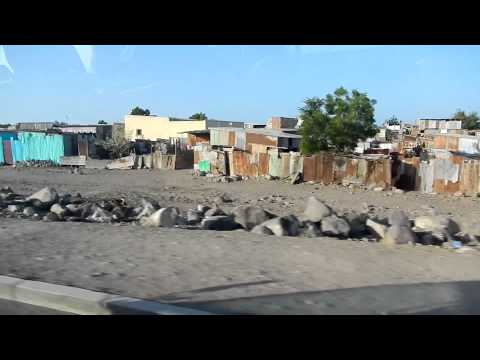 Driving from Djibouti City towards the Grand Barra desert in Djibouti, Africa