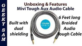 Mivi Tough Aux Audio Cable Gold plated connectors | Unboxing