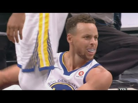 Stephen Curry 39 Points Fouls Out of Game! Warriors vs Nets 2017-18 Season