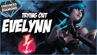 TRYING OUT EVELYNN JUNGLE - Unranked to Diamond - Ep. 100 | League of Legends