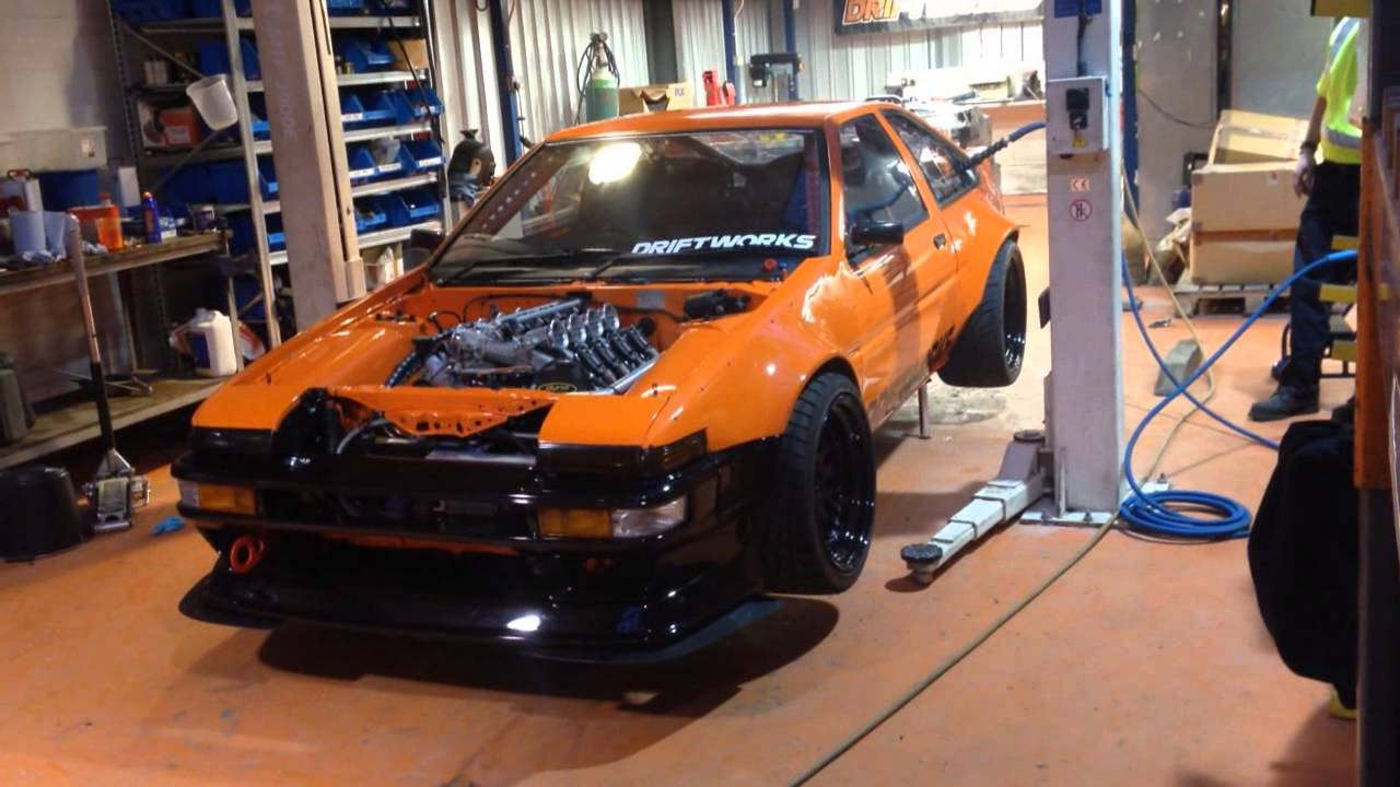 DW86 Air Jack Test Driftworks AE86 Project YouTube