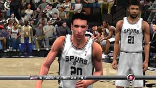 NBA 2K8 PS3 Cleveland Cavaliers vs San Antonio Spurs video game