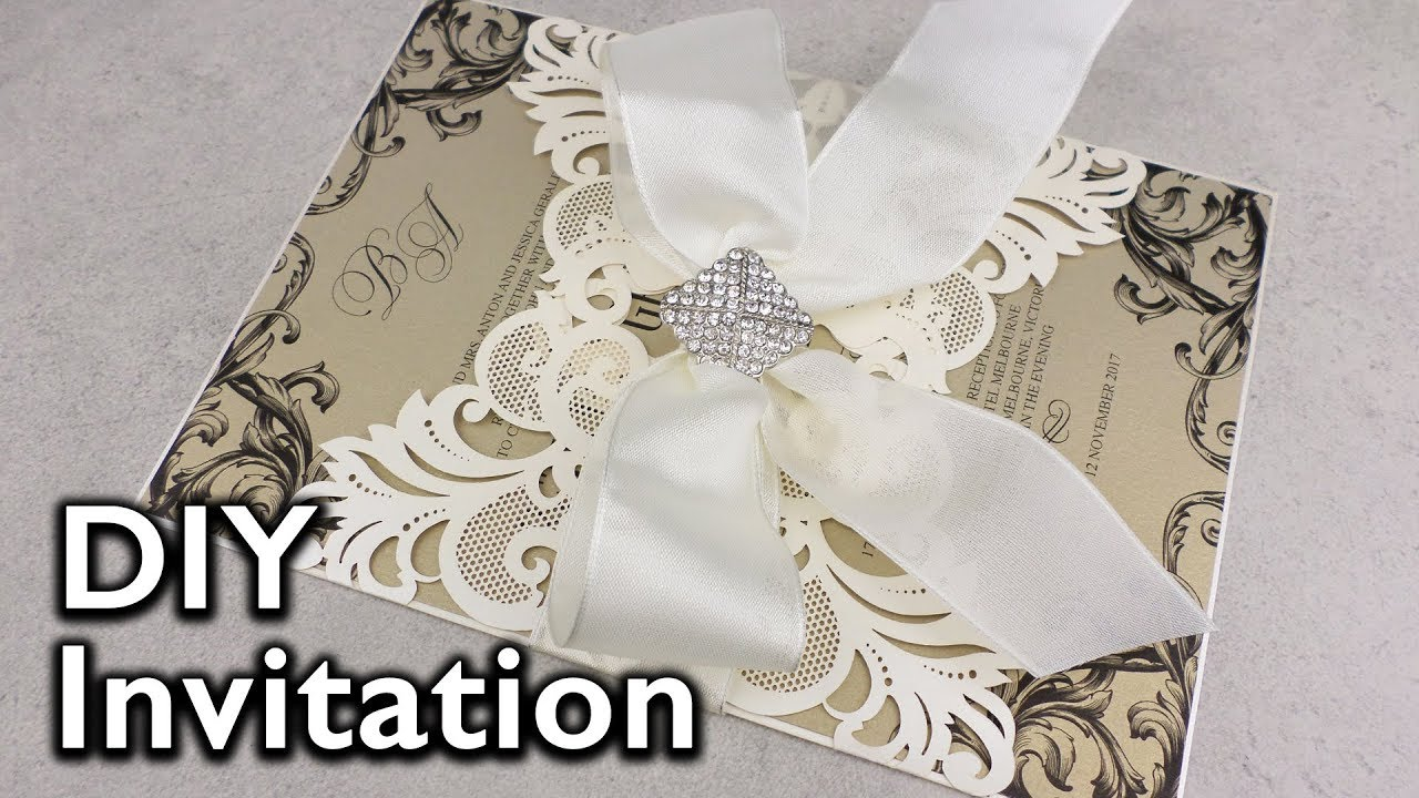 Elegant Damask Lasercut Invitation | DIY Wedding Invitations ...