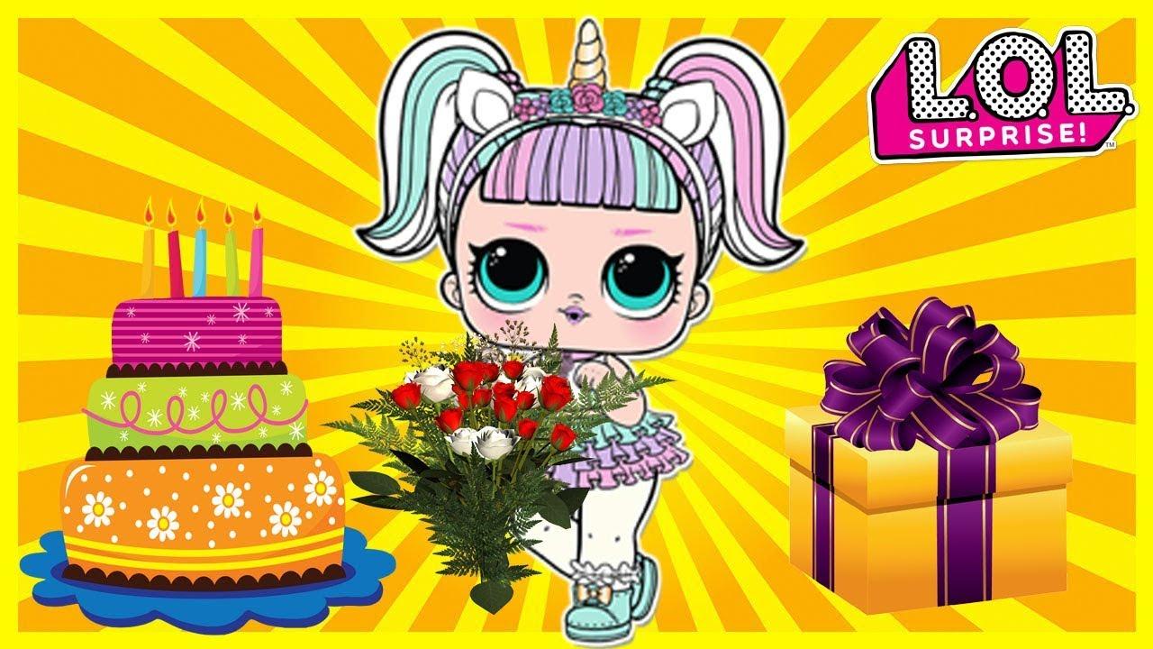 Lol Surprise Cartoon Happy Birthday Lol Unicorn 3 Series Youtube