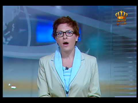 English News at Ten on Jordan Television 13-10-2017