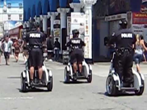 Police Lapd On Segways May 22 2009 Venice Beach California 308