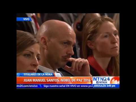 Histórico: Presidente Juan Manuel Santos recibe Premio Nobel de Paz 2016 en Oslo
