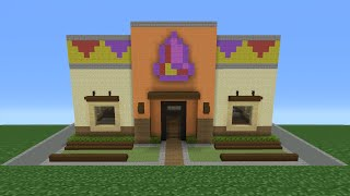 Minecraft Tutorial: How To Make A Taco Bell (Restaurant)