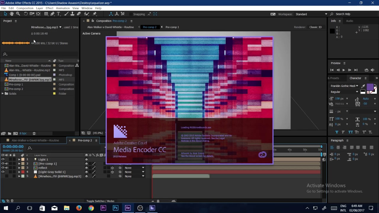 How to render adobe after effects a video by adobe media encoder