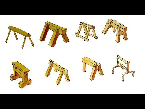 Making sawhorses 1