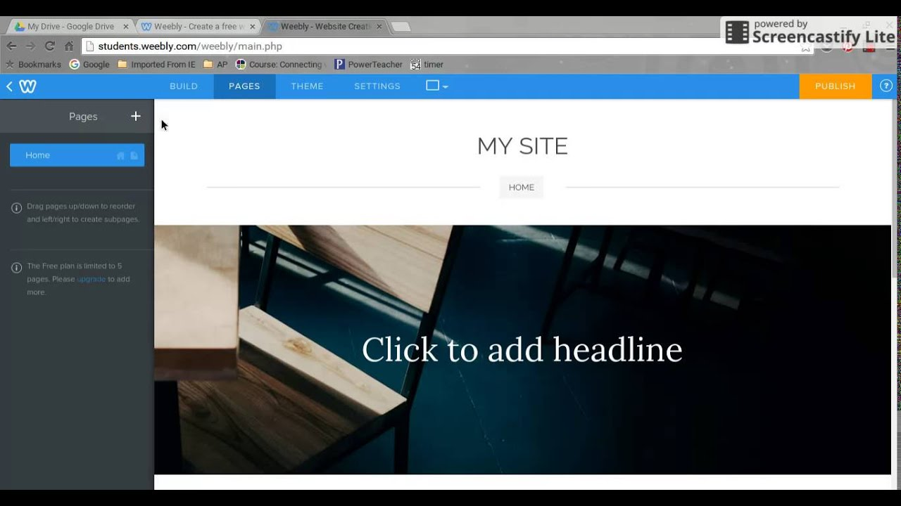 Weebly - Setting Up Your Student Blog