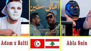 Adam x Balti feat. Jimmy H. - Ahla Snin   أحلى سنين   Reaction Show