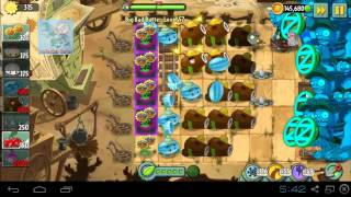 Big Bad Butte Level 57 to 58 Plants Boost Party PvZ 2 Endless Zone