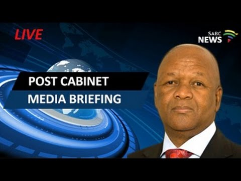 Minister Jeff Radebe briefs media on outcomes of cabinet meeting