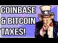 COINBASE TAXES & BITCOIN/CRYPTOCURRENCY TAXES !